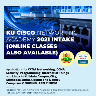 Kenyatta University Cisco Networking Academy Intake